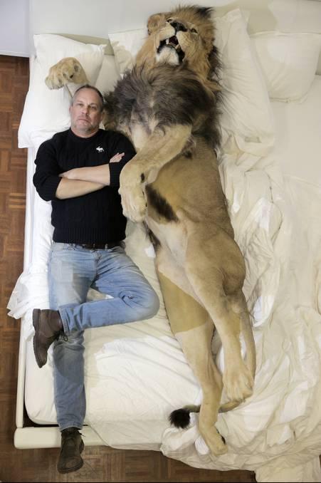 Rod McRae with Lion