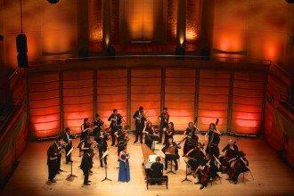 Australian Brandenburg Orchestra on stage in Sydney, playing Vivaldi Unwired