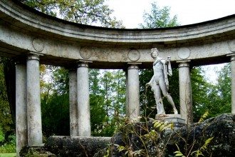 Apollo Belvedere in his purpse built Collonade of Columns in the grounds of Pavlovsk Palace, St Petersburg