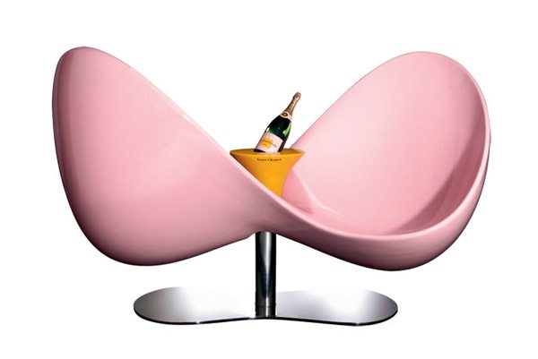 Pink Courting Chair and Champagne