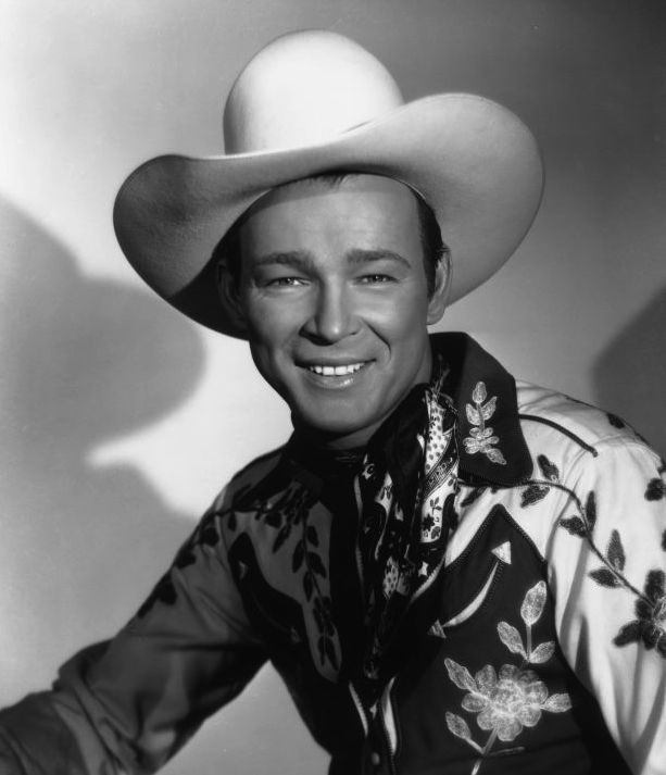 American film star Roy Rogers wearing his famous Stetson hat