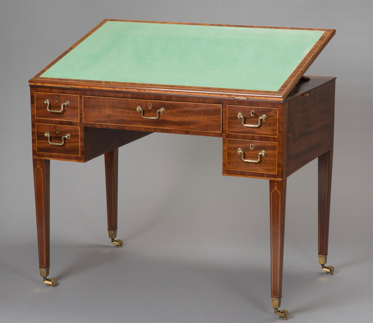 Writing Table 1796 Young Trotter & Hamilton, supplied to the Palace of Holyroodhouse for the residence of Charles-Philippe, comte d'Artois (1757-1836) the future Charles X of France and youngest brother of Louis XVI