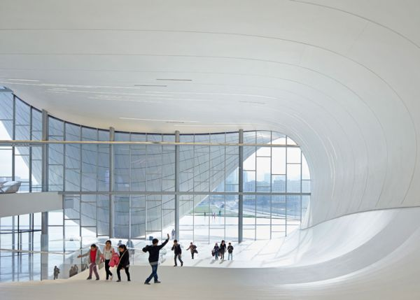 Interior Heydar Aliyev Center, Baku, Azerbaijan.