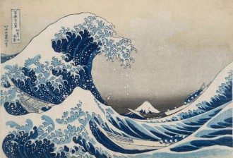 The Great Wave Off Kanagawa (c. 1830) from the Thirty-six views of Mt Fuji series 1826-33 colour woodblock 25.7 x 37.7 cm (image and sheet) National Gallery of Victoria, Melbourne