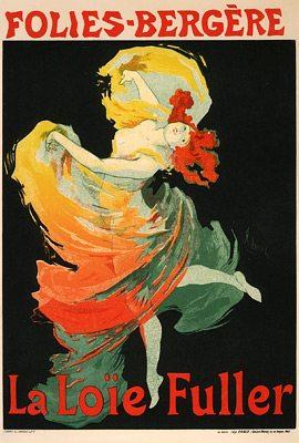 Jules Cheret (1836-1932), Poster of Loie Fuller dancing, Folies Bergere, 1893