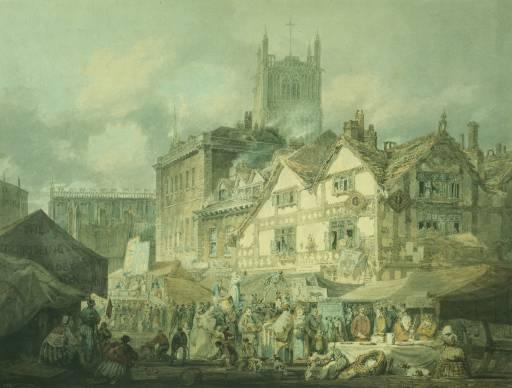 Woolverhampton, Staffordshire (High Green, Wolverhampton) exhibited 1796 by Joseph Mallord William Turner 1775-1851