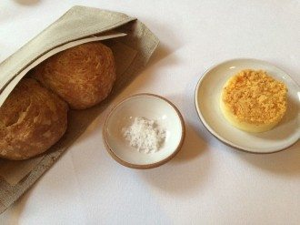 Crusty bread and salted butter provided a delicious accompaniment to the start of the meal at Eleven Madison Park. Photograph by Belinda McDowall