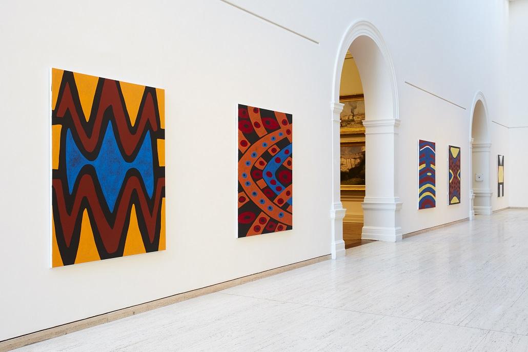 Gordon Bennett, artworks from Home Decor (after M. Preston) 2012, synthetic polymer paint on linen, © Gordon Bennett