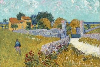 Vincent van Gogh Dutch 1853–90 Farmhouse in Provence June 1888 Arles oil on canvas 46.1 x 60.9 cm National Gallery of Art, Washington Ailsa Mellon Bruce Collection (1970.17.34)