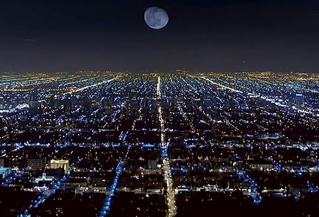 Streetlight & Moon