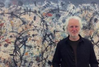 Detail:  David Rankin, Gil Gal-tracks, 2016, Acrylic on canvas, 140 x 223 cm