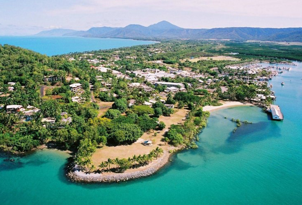 Aerial view of Port Douglas, courtesy Local Tourism Network