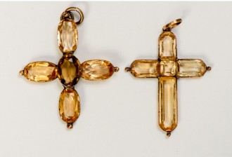 Jane and Cassandra Austen's Topaz Crosses