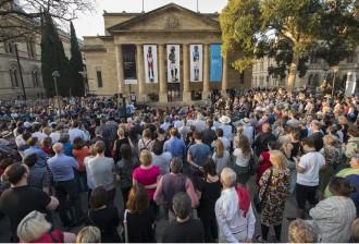 Tarnanthi opening 8/10/2015, Adelaide Art Gallery. Pic Ben Searcy.