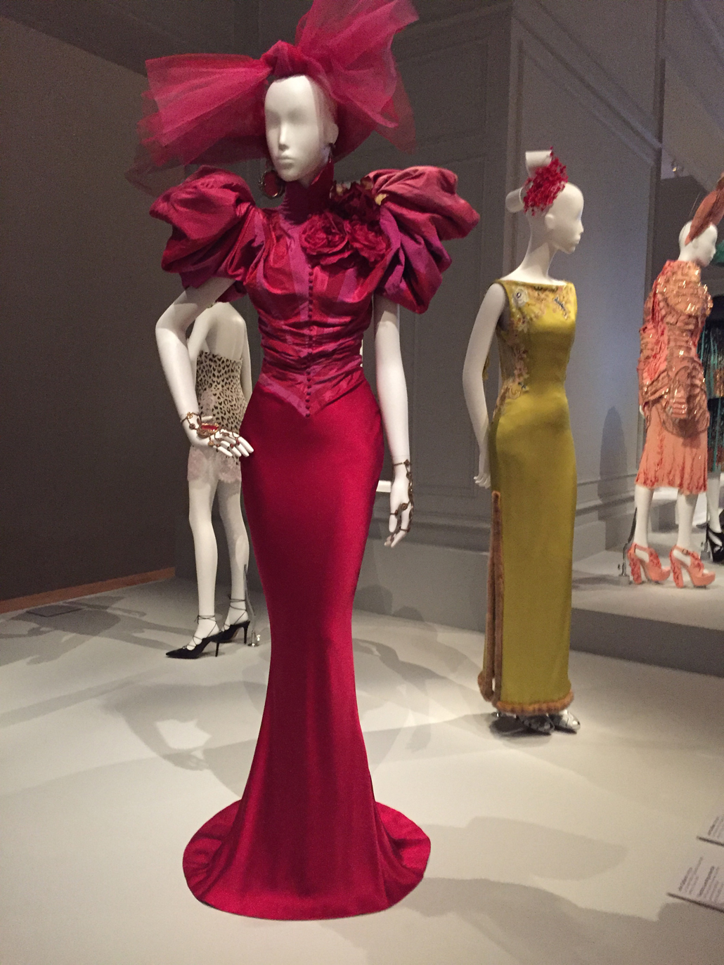 Installation photo exhibition, Dior: The House of Dior Seventy Years of Haute Couture by Carolyn McDowall