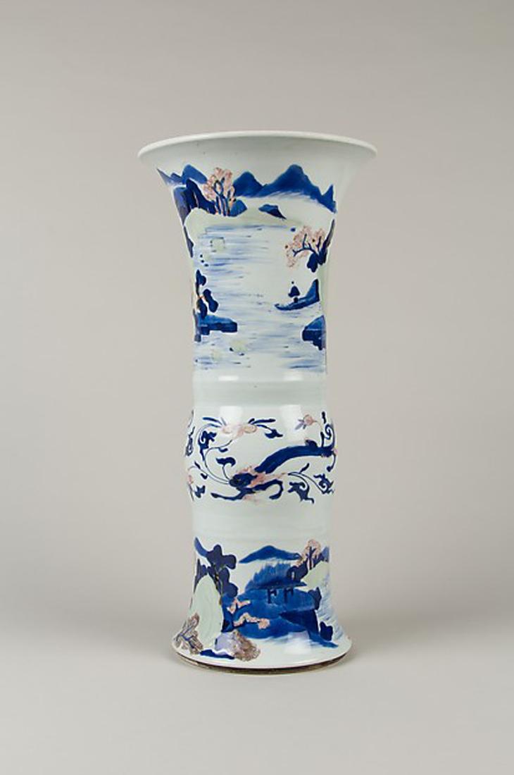 Vase with landscape scenes