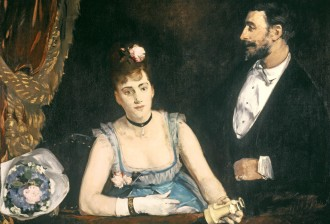A Box at the Italians' Theatre, 1874 by Gonzales, Eva (1849-83); 98x130 cm; Musee d'Orsay, Paris, France