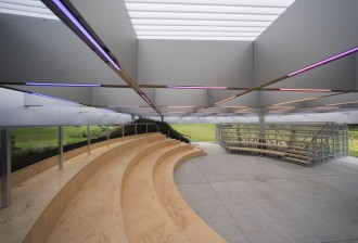 Interior of MPavilion 2017, photo by John Gollings
